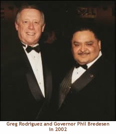 Greg Rodriguez and Governor Phil Bredesen in 2002