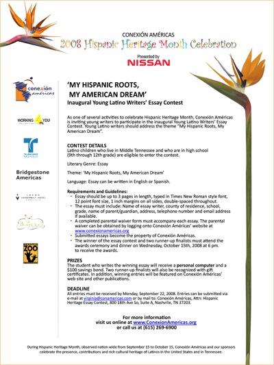 hispanic in america essay Hispanic american diversity this essay hispanic american diversity and other 63,000+ term papers, college essay examples and free essays are available now on reviewessayscom.